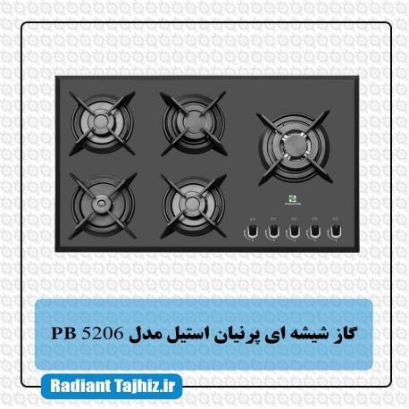 اجاق گاز شیشه ای پرنیان استیل مدل PB 5206