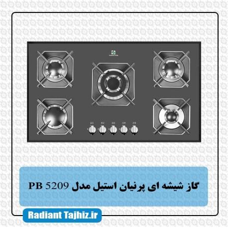اجاق گاز شیشه ای پرنیان استیل مدل PB 5209