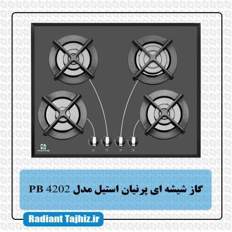 اجاق گاز شیشه ای پرنیان استیل مدل PB 4202